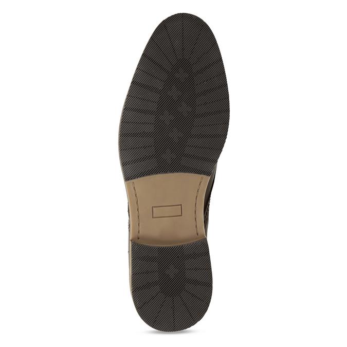 Hnědé pánské neformální kožené polobotky bata, hnědá, 826-4627 - 18