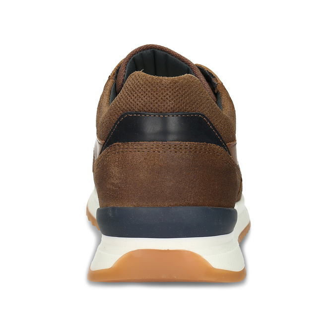 Kožené hnědé pánské tenisky v městském stylu bata, hnědá, 846-3615 - 15