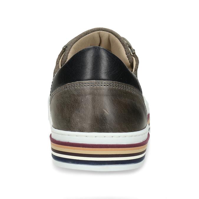 Pánské kožené ležérní tenisky bata, šedá, 846-2616 - 15