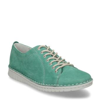 LEŽÉRNÍ ZELENÉ DÁMSKÉ TENISKY KOŽENÉ bata, zelená, 526-7600 - 13
