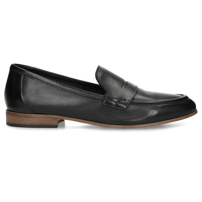 Kožené dámské mokasíny černé bata, černá, 516-6600 - 19
