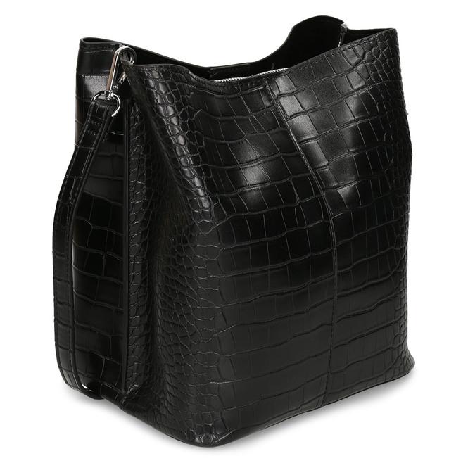 Černá dámská kabelka s hadím vzorem bata, černá, 961-6746 - 13