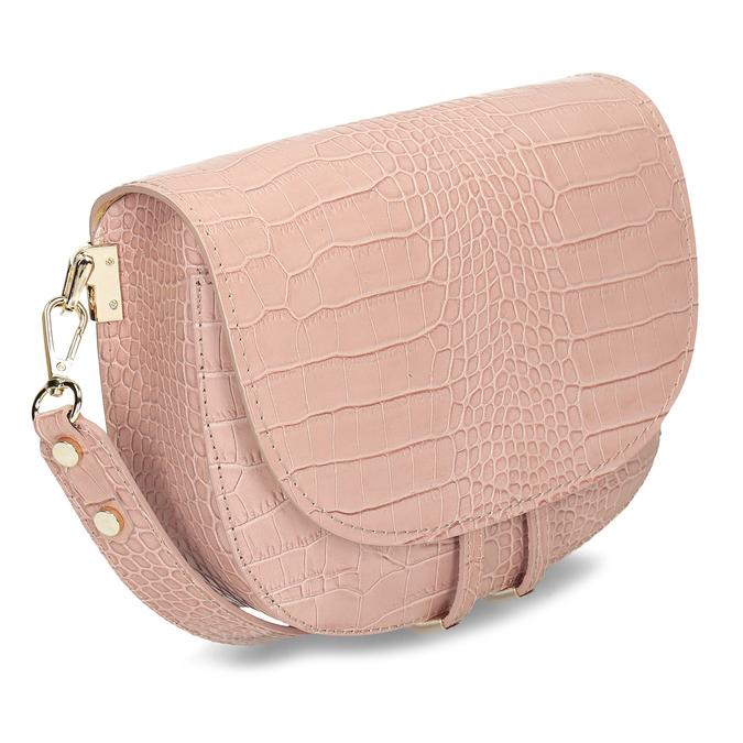 Růžová kožená dámská kabelka s hadím vzorem bata, růžová, 964-5606 - 13