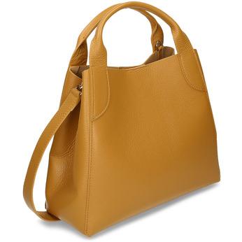 Žlutá kožená dámská kabelka s vnitřní taštičkou bata, žlutá, 964-8626 - 13