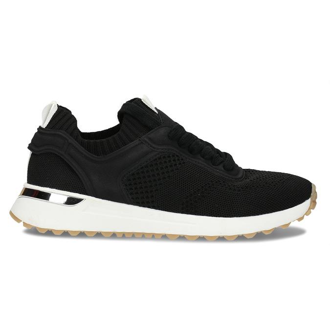 Dámské textilní tenisky černé bata, černá, 549-6617 - 19