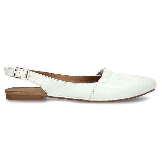Bílá dámská kožená letní obuv s otevřenou patou bata, bílá, 524-1623 - 19