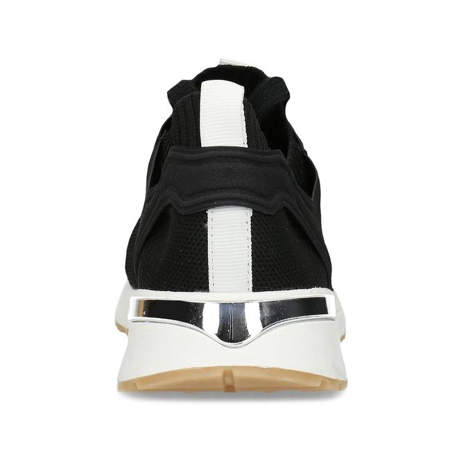 Dámské textilní tenisky černé bata, černá, 549-6617 - 15
