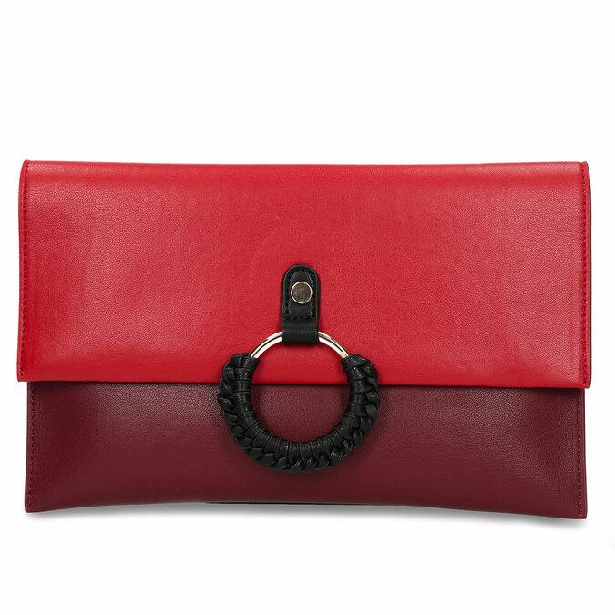 Červeno-vínové dámské psaníčko bata, červená, 961-5648 - 26