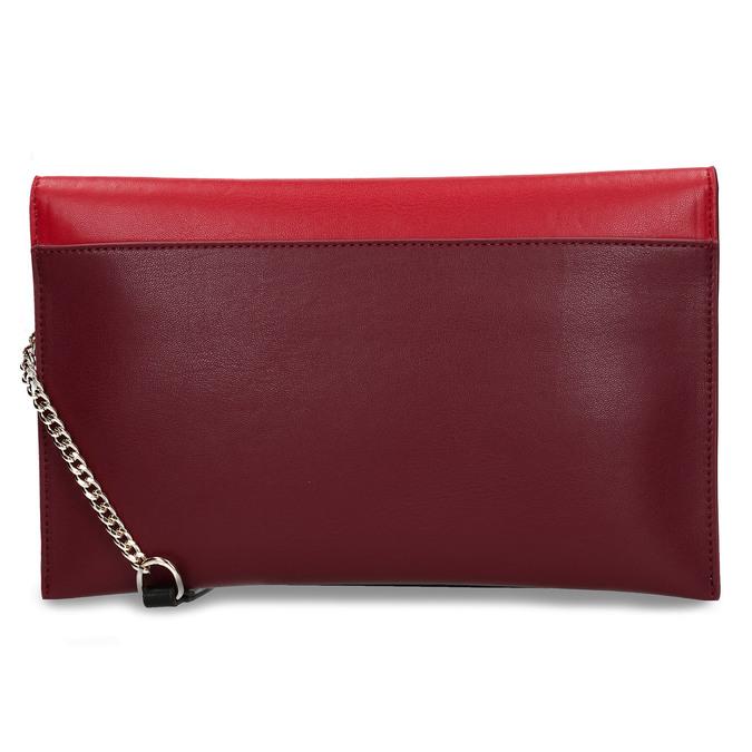 Červeno-vínové dámské psaníčko bata, červená, 961-5648 - 16