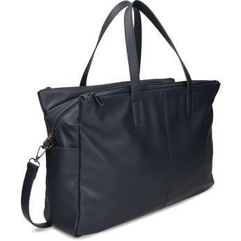 Velká dámská modrá taška bata, modrá, 961-9646 - 13