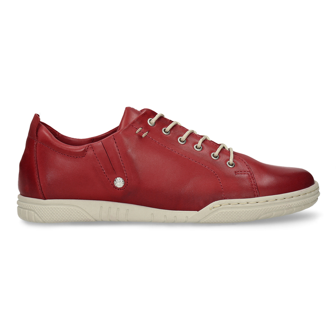 ČERVENÁ DÁMSKÁ KOŽENÁ OBUV S KONTRASTNÍMI PRVKY bata, červená, 524-5600 - 19