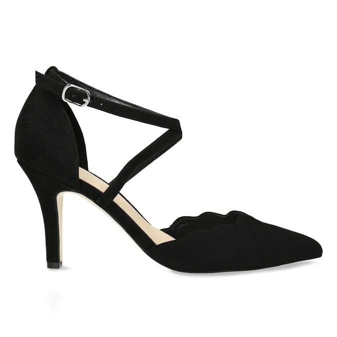 Černé dámské lodičky s koženou stélkou bata, černá, 729-6605 - 19