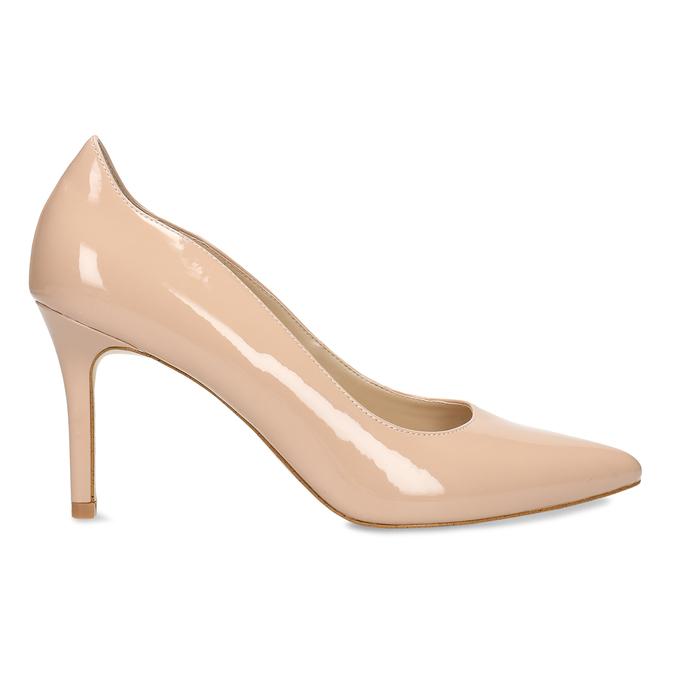 Krémové dámské lodičky s koženou stélkou bata, béžová, 721-6600 - 19