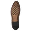 Hnědé kožené pánské polobotky bata, hnědá, 826-3674 - 18