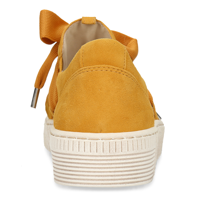 Žlutá kožená dámská slip-on obuv gabor, žlutá, 544-8626 - 15