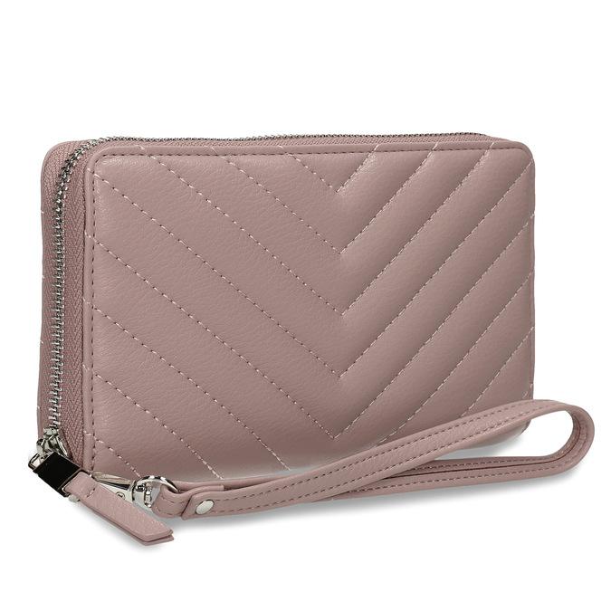 Dámská peněženka s prošitím růžová bata, růžová, 941-0110 - 13