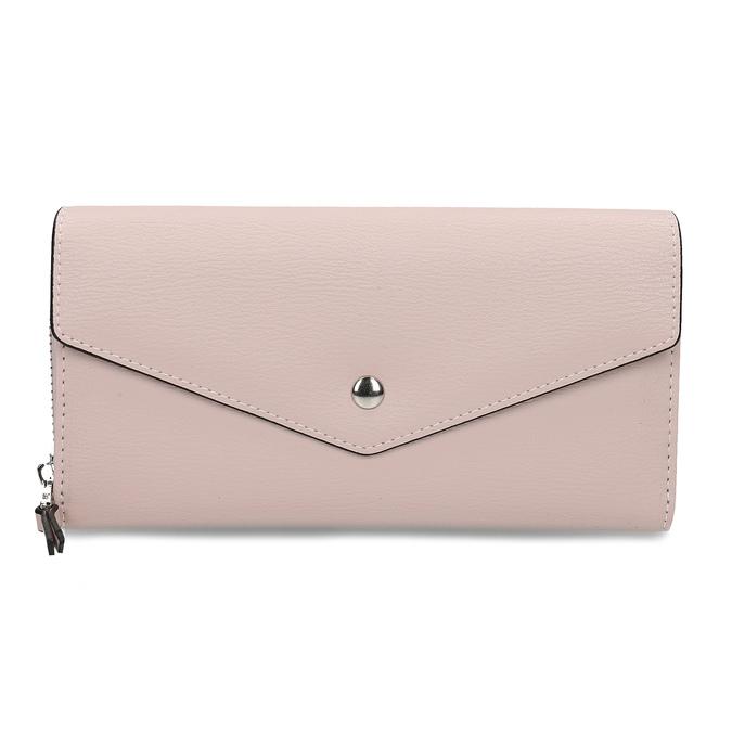 Růžová dámská peněženka s klopou bata, růžová, 941-5112 - 26