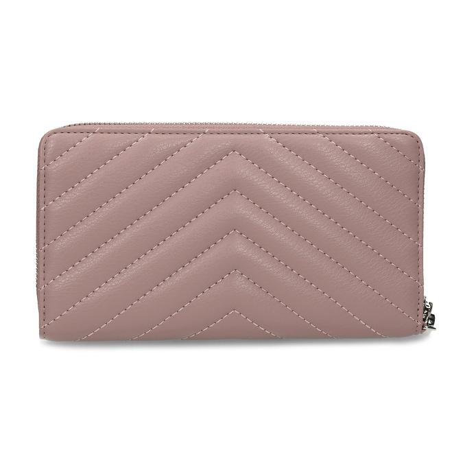 Dámská peněženka s prošitím růžová bata, růžová, 941-0110 - 16