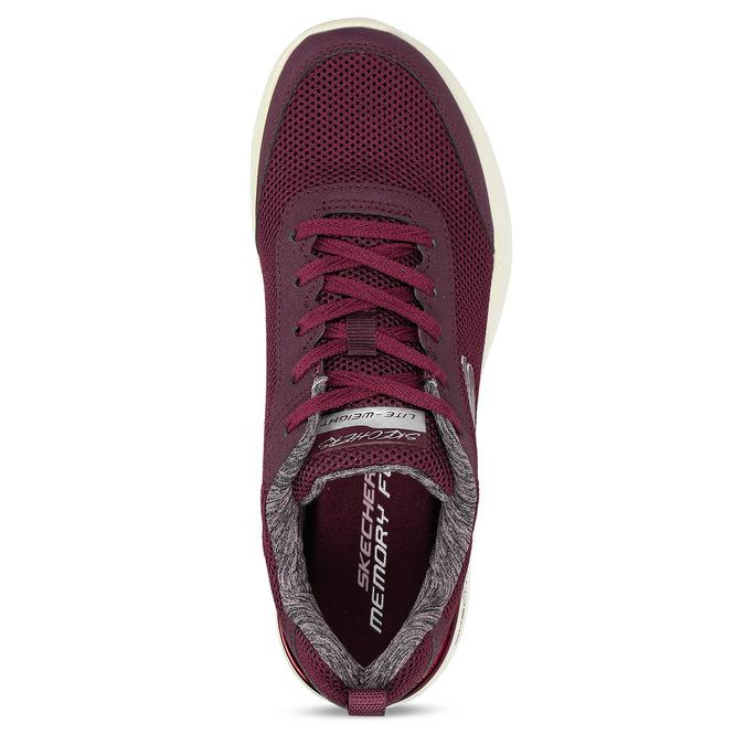 Vínové dámské sportovní tenisky skechers, červená, 509-5613 - 17