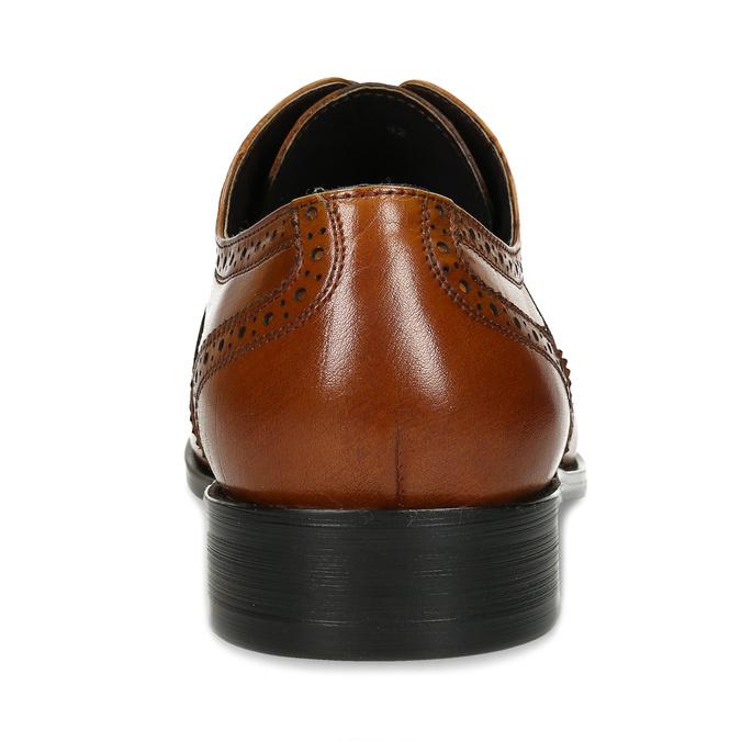 Hnědé kožené pánské polobotky bata, hnědá, 826-3669 - 15