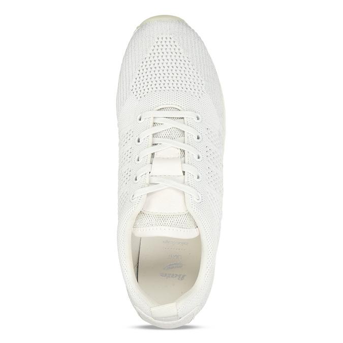 Bílé dámské tenisky na flatformě bata-light, bílá, 549-1600 - 17