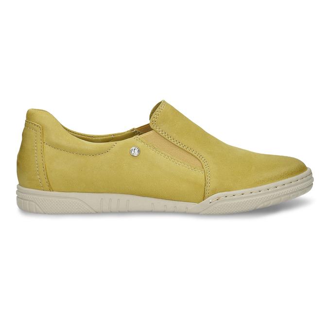 KOŽENÉ DÁMSKÉ SLIP-ON TENISKY ŽLUTÉ bata, žlutá, 526-8600 - 19