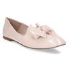 Růžové dámské baleríny s koženou stélkou bata, růžová, 521-1614 - 13