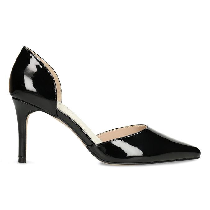 Černé dámské lodičky s koženou stélkou bata, černá, 721-6603 - 19