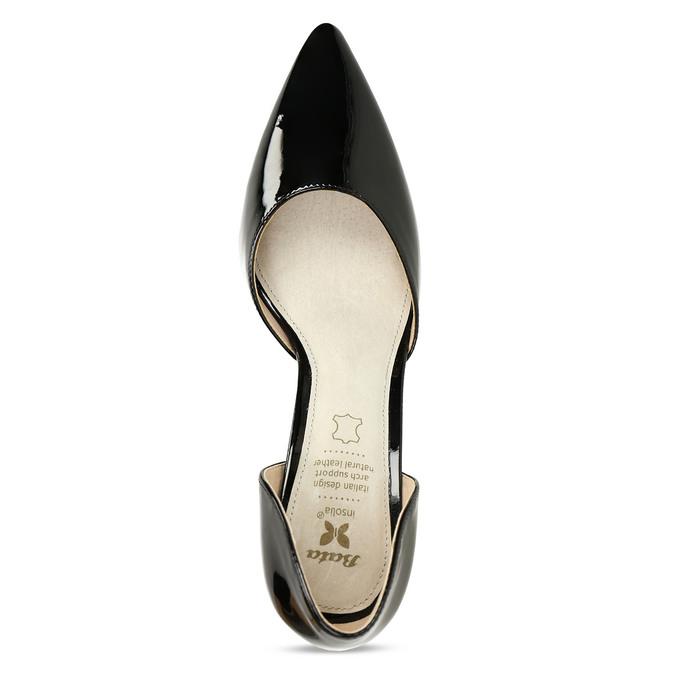 Černé dámské lodičky s koženou stélkou bata, černá, 721-6603 - 17