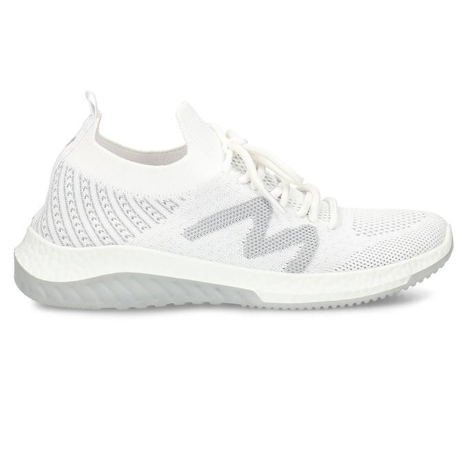 Bílé dámské odlehčené sportovní tenisky bata-light, bílá, 529-1600 - 19