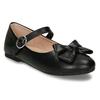 Dívčí černé baleríny s mašlí mini-b, černá, 221-6601 - 13
