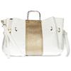 Bílá dámská kabelka s kovovými uchy bata, bílá, 961-1600 - 16