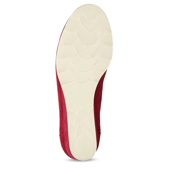 Červené dámské lodičky na klínku bata, červená, 629-5603 - 18