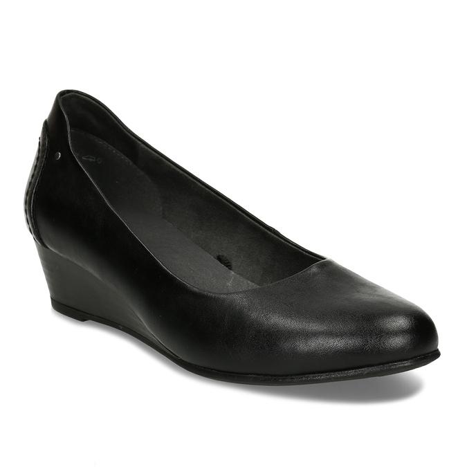 Černé dámské lodičky na klínku bata, černá, 621-6600 - 13