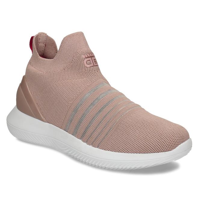 Růžové dámské slip-on tenisky bata-3d-energy, růžová, 539-5602 - 13