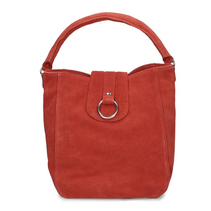 Červená kožená dámská kabelka bata, červená, 964-5643 - 26