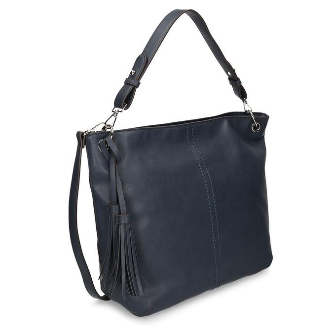 Modrá dámská kabelka bata, modrá, 961-9675 - 13