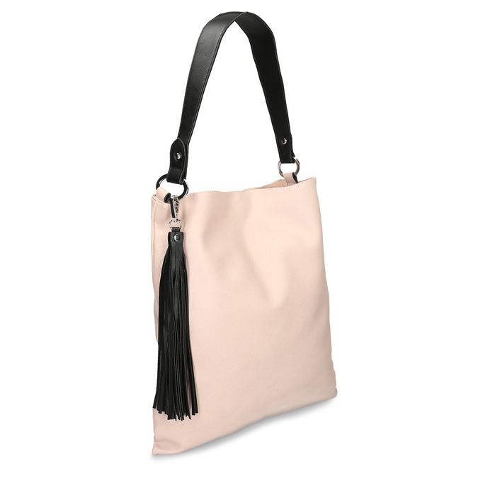 Růžovo černá dámská kabelka bata, růžová, 961-5671 - 13