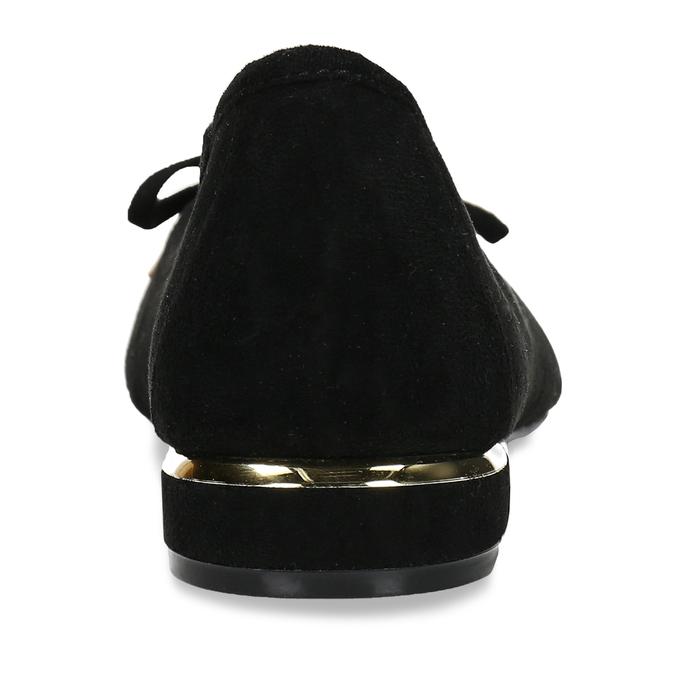 Černé baleríny s ostrou špicí bata, černá, 529-6607 - 15