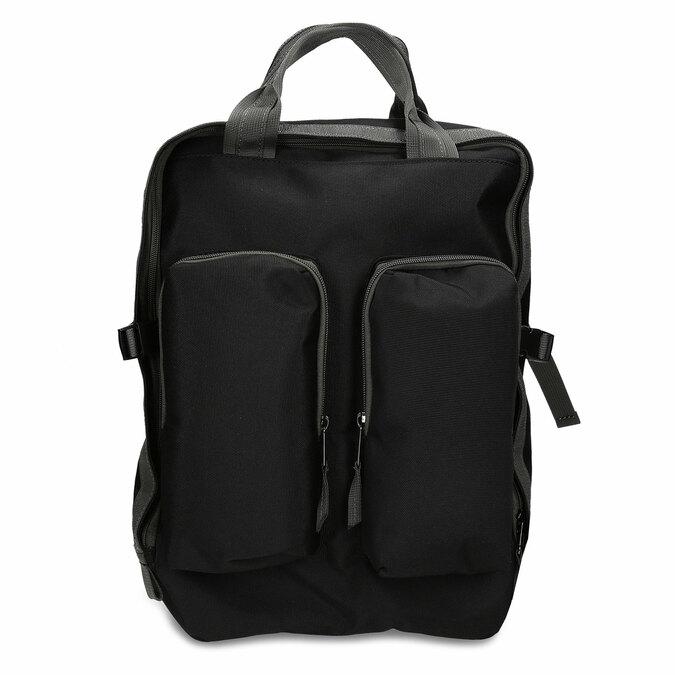 Černý městský unisex batoh bata, černá, 969-6312 - 26