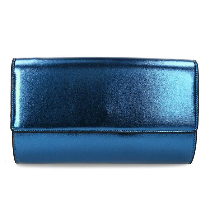 Modrá dámská metalická kabelka bata, modrá, 961-9643 - 26