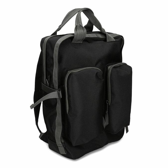 Černý městský unisex batoh bata, černá, 969-6312 - 13