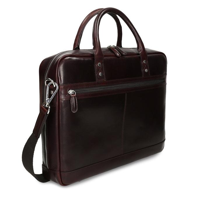 Kožená pánská taška na notebook bata, hnědá, 964-4650 - 13