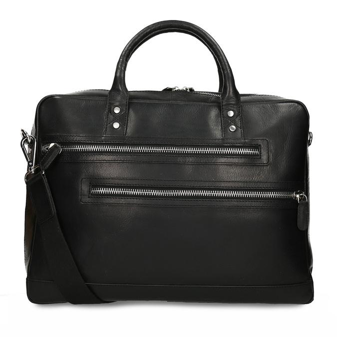 Kožená pánská černá taška na notebook bata, černá, 964-6650 - 16