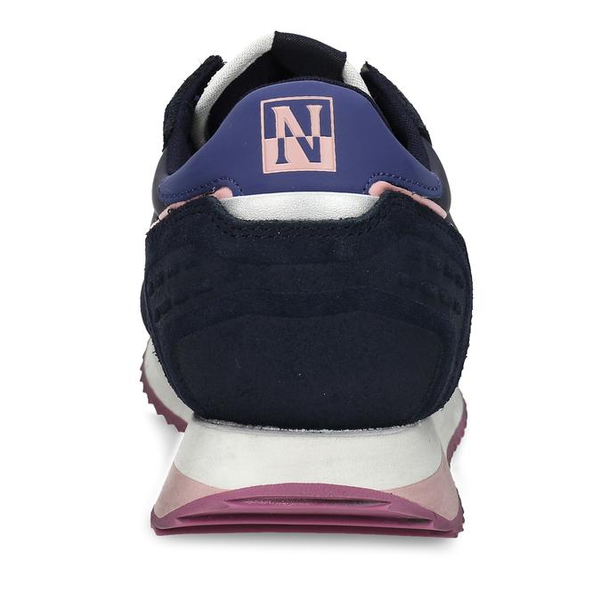 Černé dámské kožené sneakersky s fialovou podešví napapijri, modrá, 543-9602 - 15