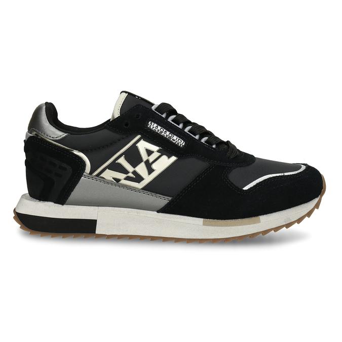 Černé dámské kožené sneakersky napapijri, černá, 543-6602 - 19