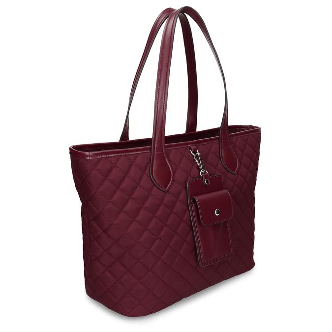 Bordó dámská větší kabelka s klíčenkou bata, červená, 961-5615 - 13