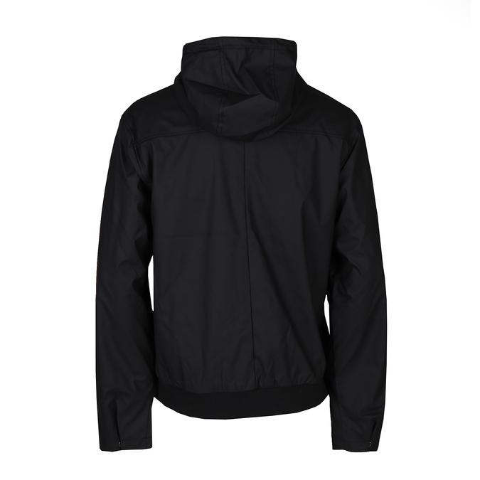 Černá pánská koženková bunda s kapucí bata, černá, 971-6291 - 26