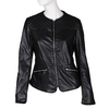 Černá dámská koženková bunda s prošíváním bata, černá, 971-6280 - 13
