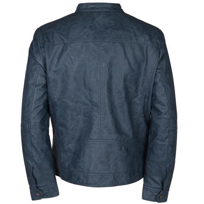 Modrá pánská koženková bunda se zapínáním u krku bata, modrá, 971-9288 - 26